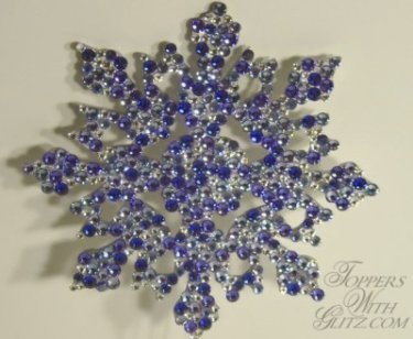 Snow flake cake topper
